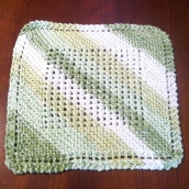 Mormor's Dishcloth with Center Grid