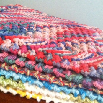 Hand Knitted Dish Cloth Gifts