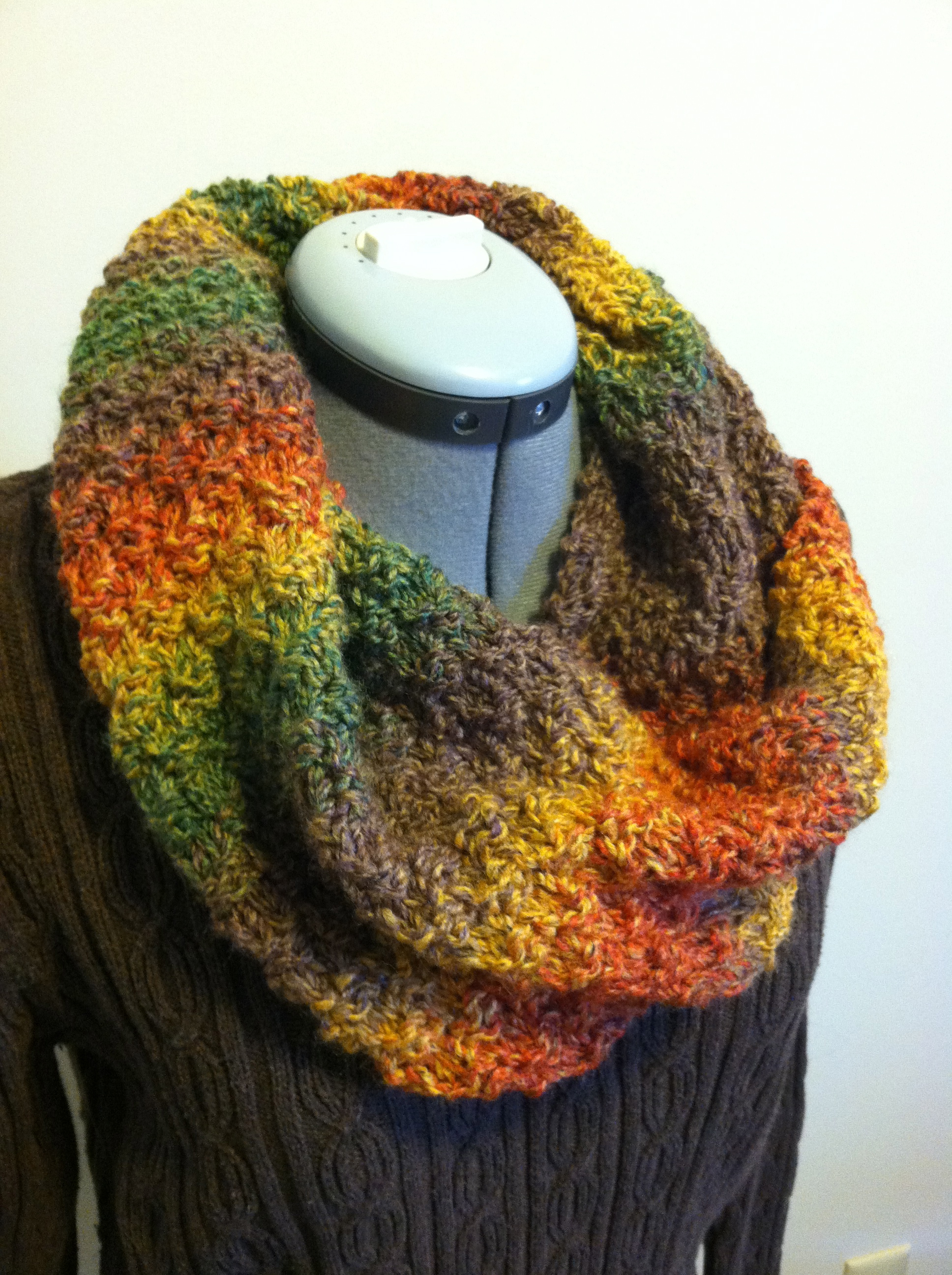 Knitting Pattern Cowl Easy : Easy Peasy Knit Cowl - Grace Elizabeths