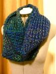 """Knifty"" Knit Infinity Scarf"