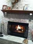 Fireplace DIY: Whitewash Brick