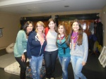 A group of us at Girls' Night!  Norma, Ellie (from the UK), Me, Rocio and Flor