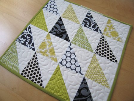 Simple Triangle Block Quilt