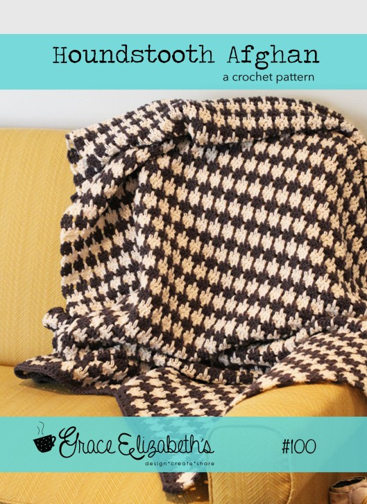 houndstooth afghan cover photo
