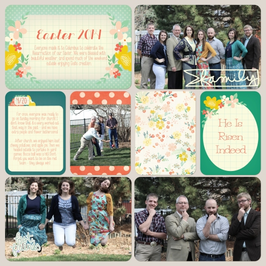 easter project life page @ graceelizabeths.com