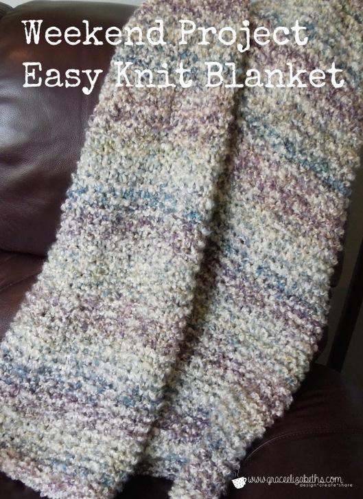 Weekend Project: Easy Knit Blanket