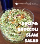 Recipe: Broccoli Slaw Salad