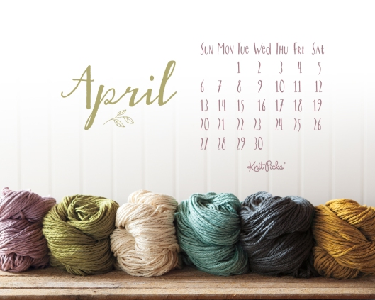 April 2014 Background by Knit Picks