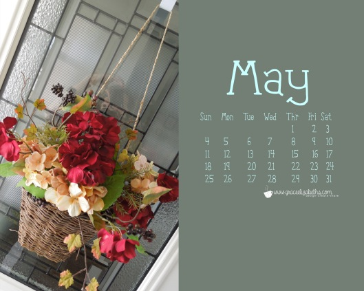 Free May Calendar Computer Background