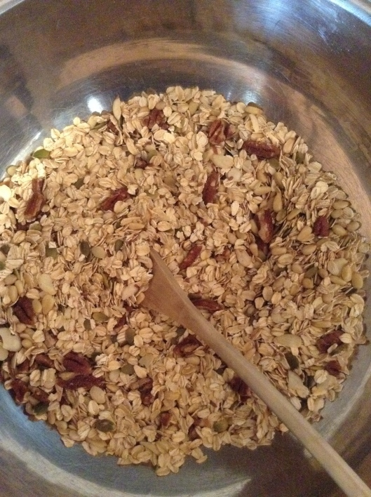 Homemade Nutty Granola dry ingredients