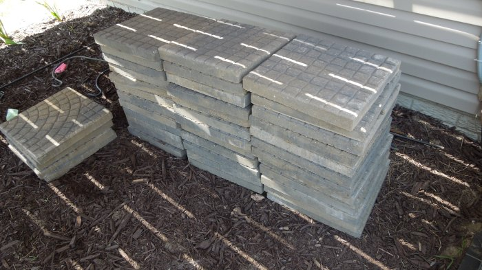 Patio pavers for new patio