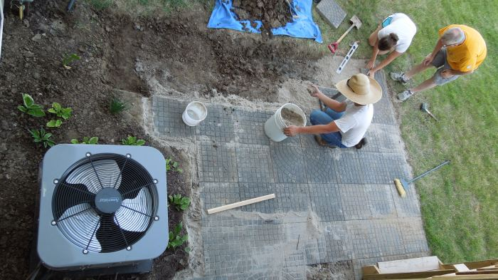 Working on the new patio