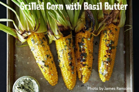 8 Irresistible Corn on the Cob Recipes: Grilled Corn w/ Basil Butter. GraceElizabeths.com