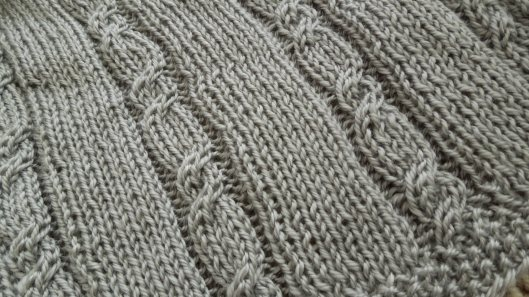 Baby Sweater  Cables Close-up by www.GraceElizabeths.com
