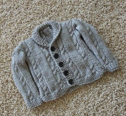 Cabled Baby Sweater by www.GraceElizabeths.com