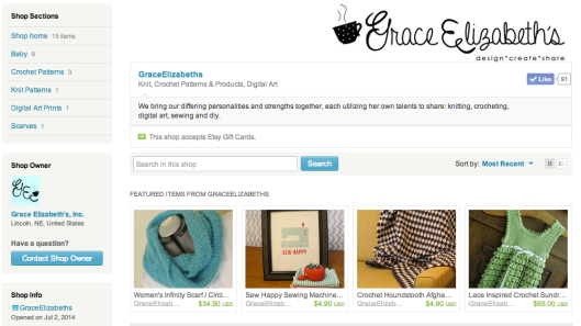 Grace Elizabeth's Etsy Shop - design, create, share