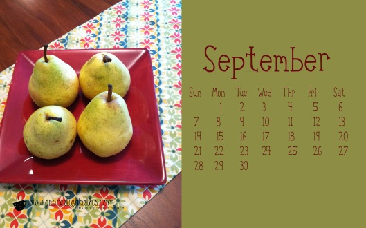 Free Sept Calendar Download by Grace Elizabeth's