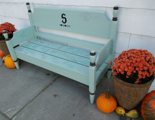 Fall Wedding Bench www.GraceElizabeths.com