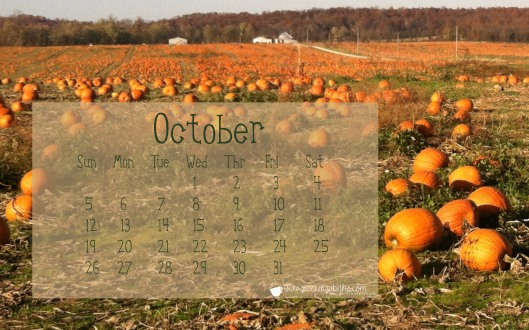 October Calendar by Grace Elizabeth's